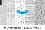 set  hand drawn black  white... | Shutterstock .eps vector #1160979517