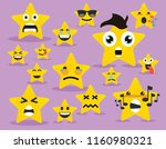 star face emoji character | Shutterstock .eps vector #1160980321