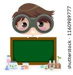illustration of a kid boy... | Shutterstock .eps vector #1160989777