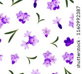 realistic detailed 3d lavender... | Shutterstock .eps vector #1160992387
