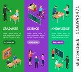 children student and teacher... | Shutterstock .eps vector #1160992471