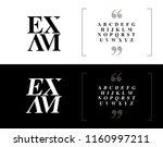 elegant alphabet letters set.... | Shutterstock .eps vector #1160997211
