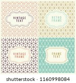 minimal pattern background.... | Shutterstock . vector #1160998084