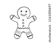 christmas gingerbread man... | Shutterstock .eps vector #1161000697