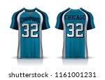 american football jersey t... | Shutterstock .eps vector #1161001231