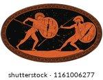 two ancient greek warrior... | Shutterstock .eps vector #1161006277