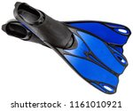 fins for snorkeling or scuba... | Shutterstock . vector #1161010921
