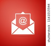 mail and e mail icon isolated... | Shutterstock .eps vector #1161015544