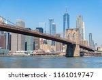 view of manhattan skyline and... | Shutterstock . vector #1161019747