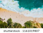 the famous beach and beautiful... | Shutterstock . vector #1161019807