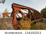 steel bridge seedorf  germany | Shutterstock . vector #116102311