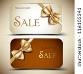 collection of gift cards with... | Shutterstock .eps vector #116102341
