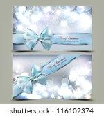 elegant christmas greeting... | Shutterstock .eps vector #116102374