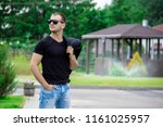 side view portrait of a young...   Shutterstock . vector #1161025957