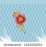 seamless floral textile pattern   Shutterstock . vector #1161026521