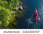 River Kayaker Aerial View....