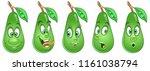 avocado. healthy food concept.... | Shutterstock .eps vector #1161038794