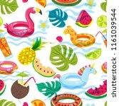 summer beach or swimming pool...   Shutterstock .eps vector #1161039544