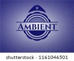 ambient badge with jean texture | Shutterstock .eps vector #1161046501