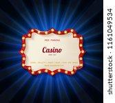 retro light sign. vintage style ...   Shutterstock . vector #1161049534