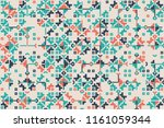 geometric pattern with colored... | Shutterstock .eps vector #1161059344
