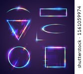 neon light frames | Shutterstock .eps vector #1161059974