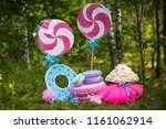 decor for a birthday in nature | Shutterstock . vector #1161062914