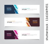 vector abstract web banner... | Shutterstock .eps vector #1161069451