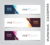 vector abstract web banner... | Shutterstock .eps vector #1161069454