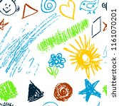 seamless pattern. draw pictures ... | Shutterstock .eps vector #1161070201