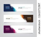 vector abstract web banner... | Shutterstock .eps vector #1161071587