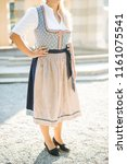 traditional bavarian dress ...   Shutterstock . vector #1161075541