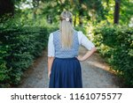 traditional bavarian dress ... | Shutterstock . vector #1161075577