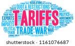 tariffs word cloud on a white...   Shutterstock .eps vector #1161076687