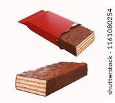 chocolate coated on crispy...   Shutterstock . vector #1161080254