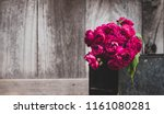 red roses flower with wood... | Shutterstock . vector #1161080281