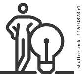 lamp  bold line stick figure... | Shutterstock .eps vector #1161082354