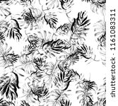 seamless watercolor tropical... | Shutterstock . vector #1161083311