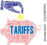 tariffs word cloud on a white...   Shutterstock .eps vector #1161085591