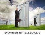 businessmen or salesmen with... | Shutterstock . vector #116109379