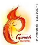 hindu god ganesha grungy... | Shutterstock .eps vector #1161100747