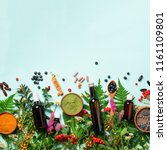 alternative medicine. holistic... | Shutterstock . vector #1161109801