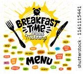 breakfast time  good morning ... | Shutterstock .eps vector #1161115441