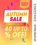 autumn sale web banner design.... | Shutterstock .eps vector #1161122611