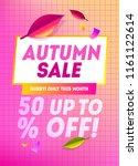 autumn sale web banner design.... | Shutterstock .eps vector #1161122614