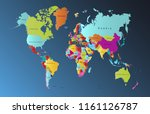 color world map vector | Shutterstock .eps vector #1161126787