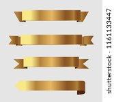 set of golden ribbons vector. | Shutterstock .eps vector #1161133447