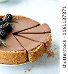 homemade chocolate rustic... | Shutterstock . vector #1161137371