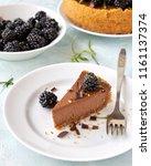 homemade chocolate rustic... | Shutterstock . vector #1161137374