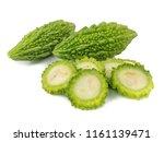 balsam apple  bitter cucumber ... | Shutterstock . vector #1161139471
